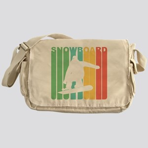 Retro Snowboard Messenger Bag