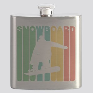 Retro Snowboard Flask