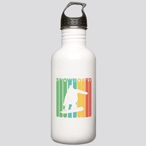 Retro Snowboard Water Bottle