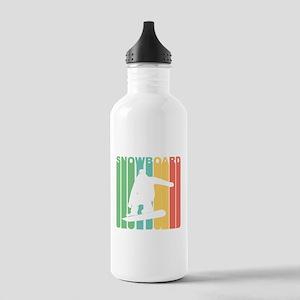 Retro Snowboard Water Bottle