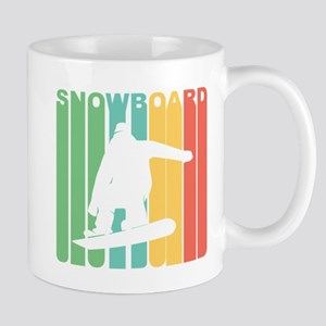 Retro Snowboard Mugs