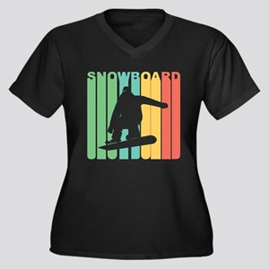 Retro Snowboard Plus Size T-Shirt