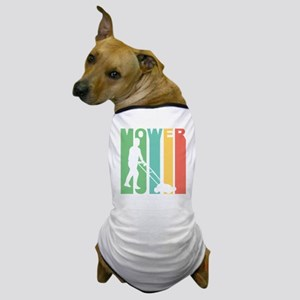 Retro Lawnmower Dog T-Shirt