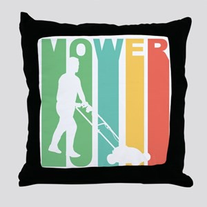 Retro Lawnmower Throw Pillow