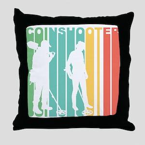 Retro Coinshooter Throw Pillow