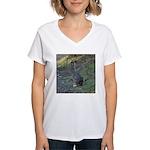 Black Tailed Jackrabbit Women's V-Neck T-Shirt