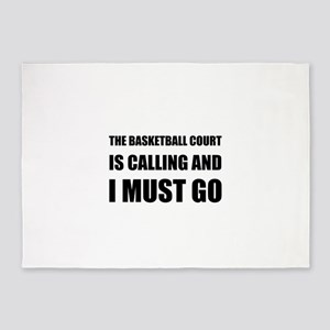 Basketball Court Calling Must Go 5'x7'Area Rug