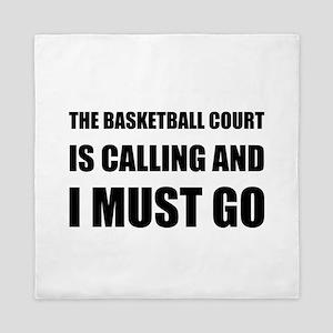 Basketball Court Calling Must Go Queen Duvet