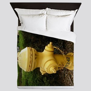 afternoon fire hydrant in san Jose Queen Duvet