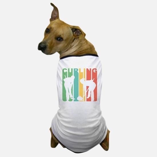 Retro Curling Dog T-Shirt