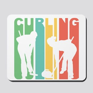 Retro Curling Mousepad