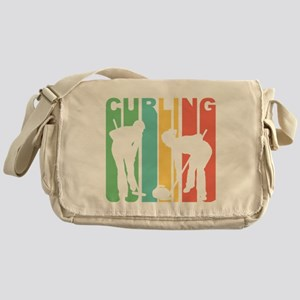 Retro Curling Messenger Bag