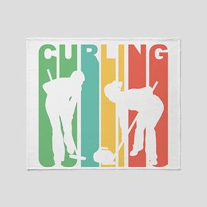 Retro Curling Throw Blanket