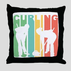 Retro Curling Throw Pillow
