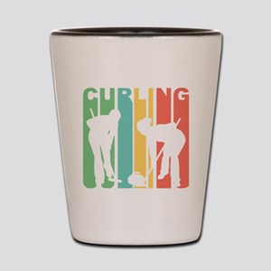 Retro Curling Shot Glass