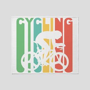 Retro Cycling Throw Blanket