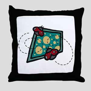 Two Lil Lady Bugs Throw Pillow