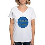 Nature Lover Sky Background Women's V-Neck T-Shirt
