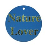 Nature Lover Sky Background Ornament (Round)