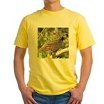 California Quail Yellow T-Shirt