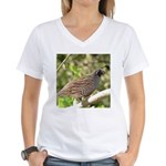 California Quail Women's V-Neck T-Shirt