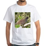 California Quail White T-Shirt