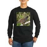 California Quail Long Sleeve Dark T-Shirt