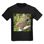 California Quail Kids Dark T-Shirt
