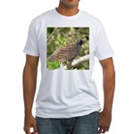 California Quail Fitted T-Shirt