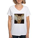 Barn Owl Women's V-Neck T-Shirt