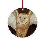 Barn Owl Ornament (Round)