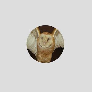 Barn Owl Mini Button