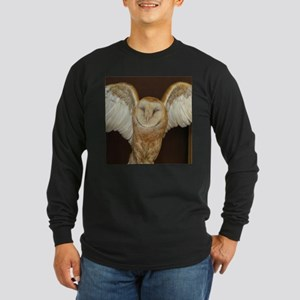 Barn Owl Long Sleeve Dark T-Shirt