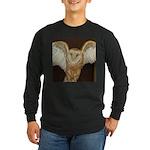 Barn Owl Long Sleeve Dark T-Shirt