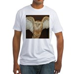 Barn Owl Fitted T-Shirt