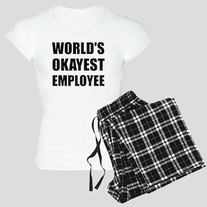World's Okayest Employee Women's Light Pajamas