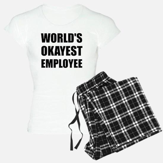 World's Okayest Employee Pajamas