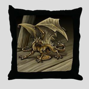 Tavern Dragon Throw Pillow