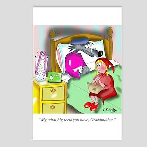 Denture Cartoon 9394 Postcards (Package of 8)