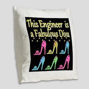 ENGINEER DIVA Burlap Throw Pillow