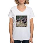 Three Tom Turkey Gobblers Women's V-Neck T-Shirt