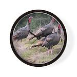 Three Tom Turkey Gobblers Wall Clock