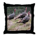 Three Tom Turkey Gobblers Throw Pillow