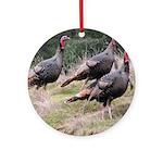 Three Tom Turkey Gobblers Ornament (Round)