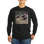 Three Tom Turkey Gobblers Long Sleeve Dark T-Shirt
