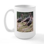 Three Tom Turkey Gobblers Large Mug