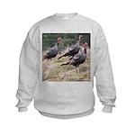 Three Tom Turkey Gobblers Kids Sweatshirt