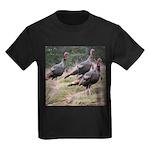 Three Tom Turkey Gobblers Kids Dark T-Shirt
