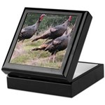 Three Tom Turkey Gobblers Keepsake Box