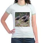 Three Tom Turkey Gobblers Jr. Ringer T-Shirt